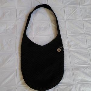 The SAK Crochet Hobo Bag in Black